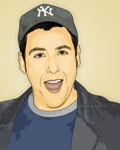 Adam Sandler Photo Cartoon by cartoonized.net