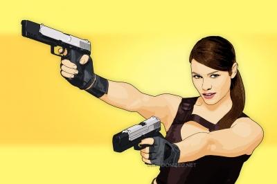 Photo Cartoon of Alison Carroll