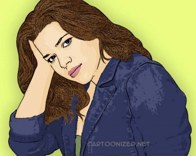 Photo Cartoon of America Ferrera