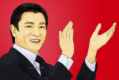 Photo Cartoon of andy lau by cartoonized.net