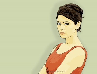 Photo Cartoon of Ashley Greene