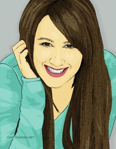 Photo Cartoon of Ashley Tisdale