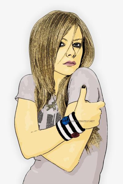 Photo Cartoon of avril lavigne by cartoonized.net