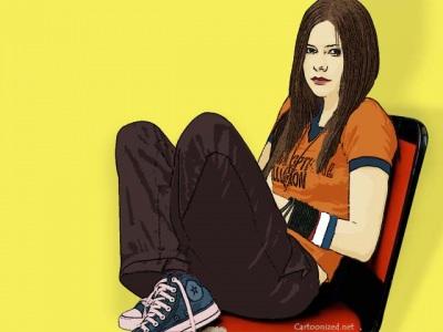Photo Cartoon of Avril Lavigne