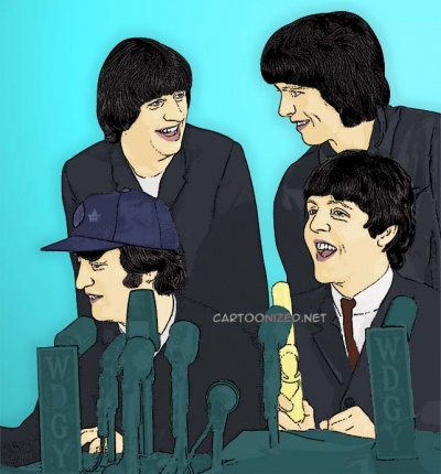 Photo-Cartoon-of-Beatles