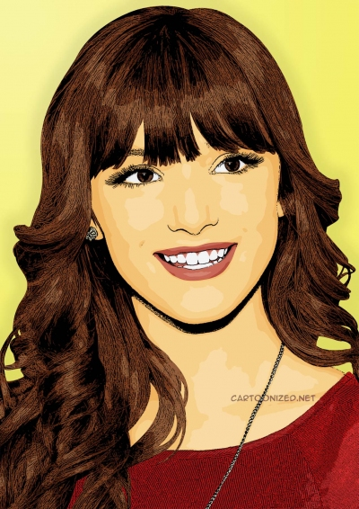 Photo Cartoon of bella thorne by cartoonized.net