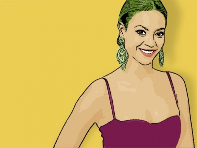 Photo Cartoon of Beyonce Knowles