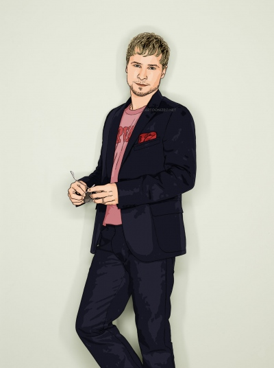 cartoon photo of Brian Littrell