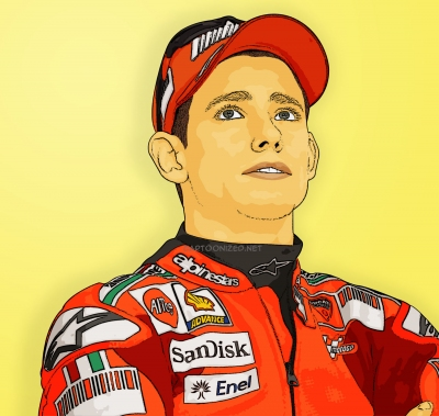 Photo Cartoon of casey stoner by cartoonized.net