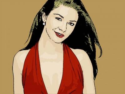 Photo Cartoon of Catherine Zeta Jones