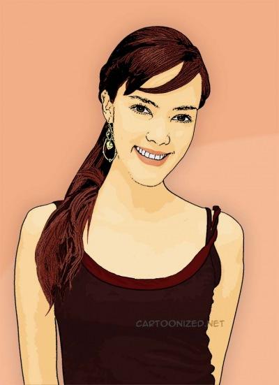 Photo Cartoon of Cathy Sharon