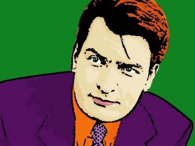 Photo Cartoon of Charlie Sheen