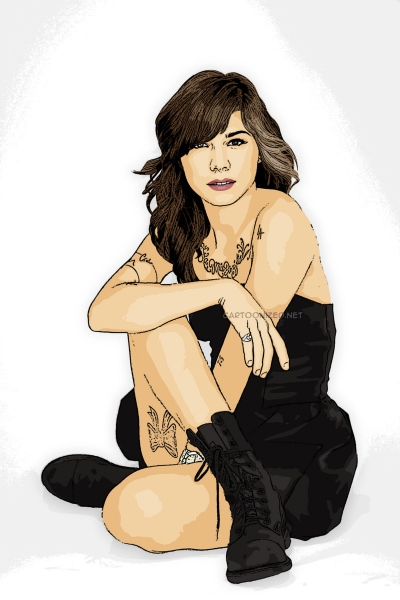 cartoon photo of christina perri