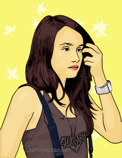 Photo Cartoon of Cinta Laura
