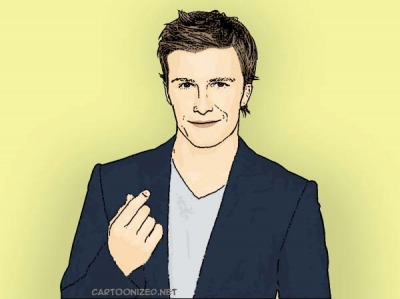 Photo Cartoon of David Beckham