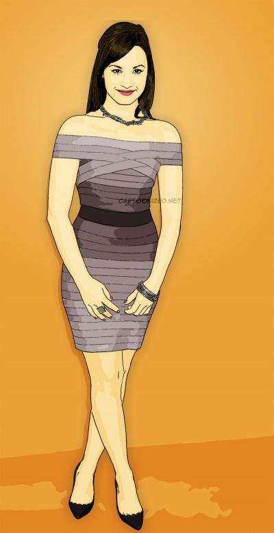 cartoon photo of demi lovato by cartoonized.net