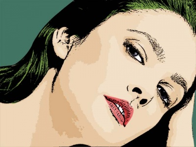 Photo Cartoon of Drew Barrymore