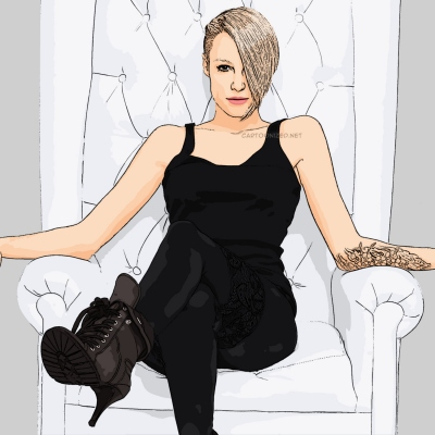 cartoon photo of Emma Hewitt