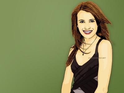 Photo Cartoon of Emma Roberts