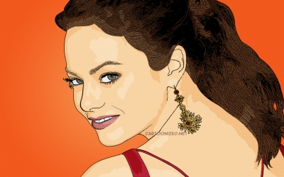 cartoon photo of Emma Stone