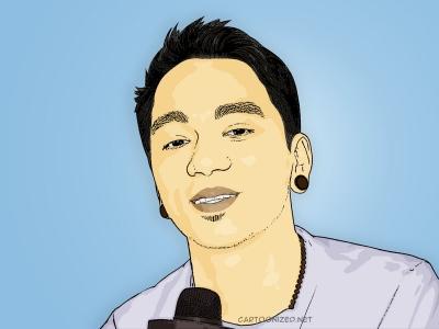 cartoon photo of enda ungu by cartoonized.net