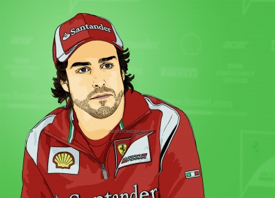 Photo Cartoon of fernando alonso by cartoonized.net