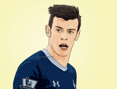 Photo cartoon of Gareth Bale