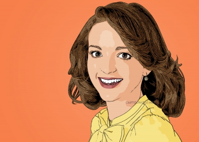 Photo Cartoon of Jayma Mays