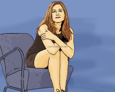 Photo Cartoon of Jennifer Aniston