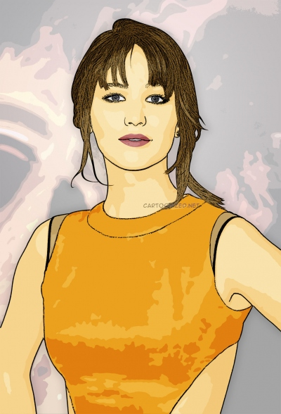 cartoon photo of jennifer lawrence by cartoonized.net