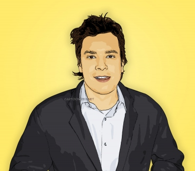 cartoon photo of jimmy fallon by cartoonized.net
