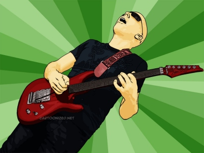 Photo Cartoon of Joe Satriani