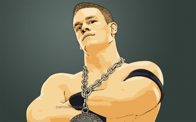 cartoon photo of john cena by cartoonized.net