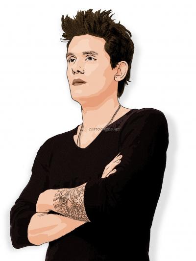 cartoon photo of John Mayer