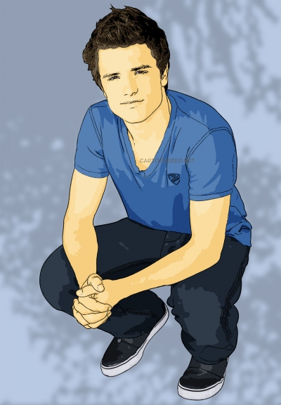 cartoon photo of josh hutcherson by cartoonized.net