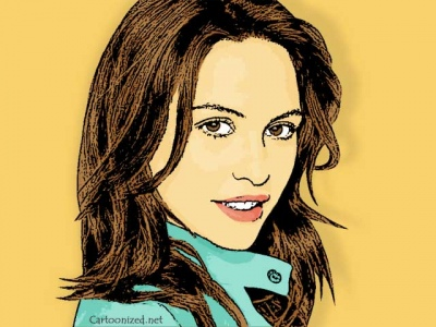 Photo Cartoon of Josie Maran