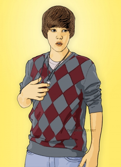 cartoon photo of justin bieber by cartoonized.net
