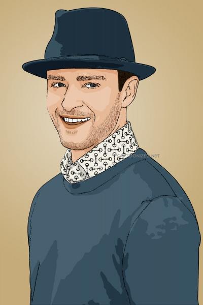 Photo cartoon of Justin Timberlake