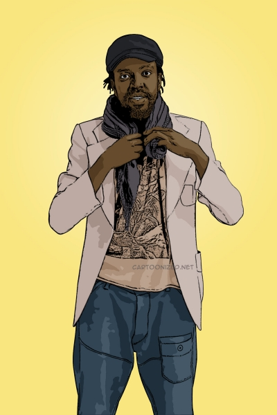 Photo cartoon of Kagiso Lediga