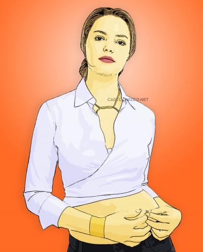 cartoon photo of katherine heigl by cartoonized.net