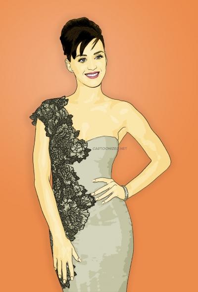 cartoon photo of katy perry by cartoonized.net