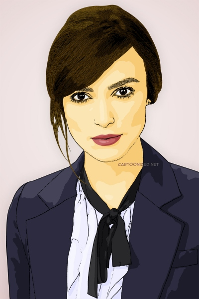 cartoon photo of keira knightley by cartoonized.net