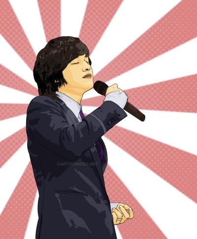 Photo Cartoon of Kim Bum