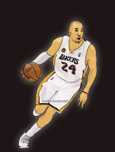 Photo Cartoon of Kobe Bryant