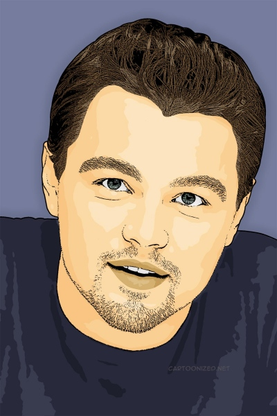 Photo Cartoon of Leonardo Dicaprio