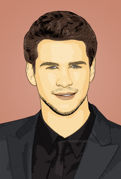 cartoon photo of liam hemsworth by cartoonized.net