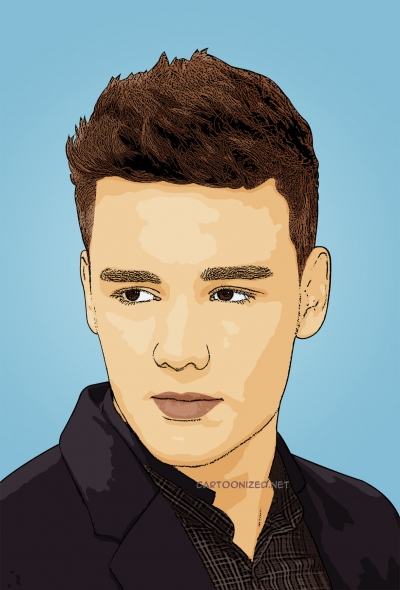 cartoon photo of Liam Payne