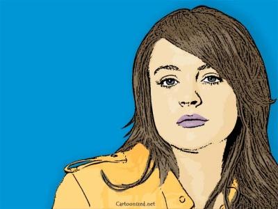 Photo Cartoon of Lindsay Lohan