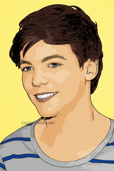 cartoon photo of Louis Tomlinson