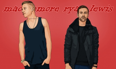 Photo cartoon of Macklemore